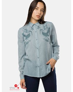 Рубашка цвет голубой Mr520