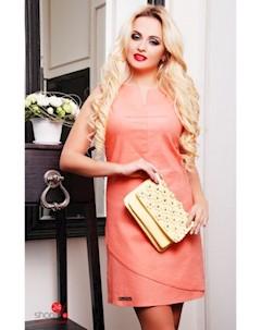 Платье цвет персиковый Boston