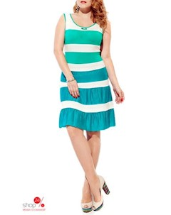 Сарафан цвет белый зеленый Fantazia mod