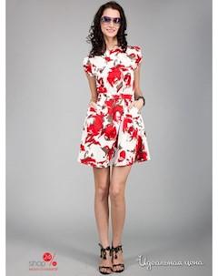 Платье цвет белый красный May be