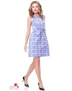 Платье цвет голубой белый Kiara