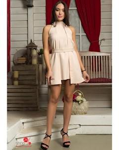 Платье цвет бежевый Flf