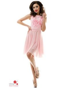Платье цвет розовый Tivardo