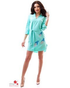 Платье цвет бирюзовый Dioriss
