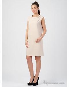 Платье цвет бежевый Tuzun