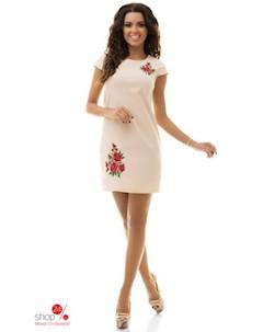 Платье цвет бежевый Tivardo