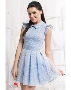 Платье цвет голубой белый Charm
