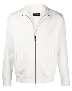 Куртка на молнии с вышитым логотипом Emporio armani