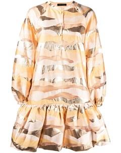 Платье с баской и абстрактным узором Stine goya