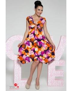 Платье цвет фиолетовый Ghazel