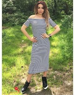 Платье цвет черный белый Eletan boutique