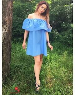 Платье цвет голубой Eletan boutique