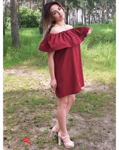 Платье цвет бордовый Eletan boutique