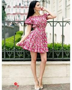 Платье цвет малиновый Charm