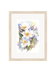 Картина Белые цветы Olga glazunova