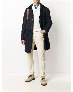 Однобортное пальто узкого кроя Brunello cucinelli