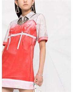 Платье с короткими рукавами и фотопринтом Moschino