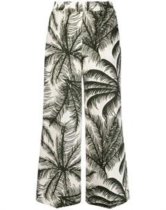 Укороченные брюки с принтом Parosh