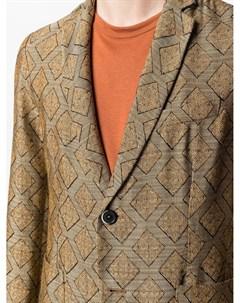 Однобортный пиджак с абстрактным принтом Barena