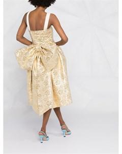 Жаккардовое платье без рукавов Moschino