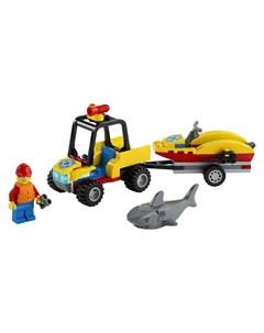 Конструктор City 60286 Лего Город Пляжный спасательный вездеход Lego