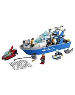 Конструктор City 60277 Лего Город Катер полицейского патруля Lego