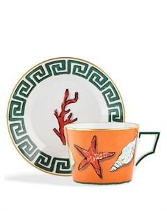 Чайная чашка и блюдце Il Viaggio di Nettuno Ginori 1735