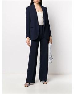 Костюмный пиджак с лацканами шалькой Blanca vita