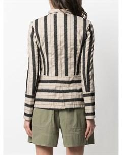 Двубортный пиджак в полоску Bazar deluxe