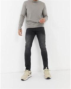 Облегающие джинсы черного выбеленного цвета Culver Tom tailor