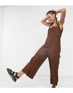 Леопардовый комбинезон в стиле oversized с завязками на плечах Native youth