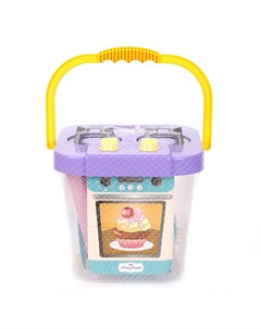 Плита ведро с набором посуды в сетке Mary poppins