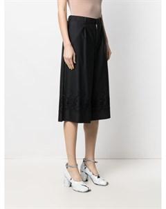 Укороченные брюки с английской вышивкой Comme des garçons tricot