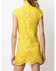 Кружевное платье мини с высоким воротником Dsquared2