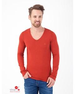 Пуловер цвет терракотовый Lee cooper
