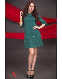 Платье цвет зеленый Flf