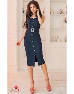 Платье цвет синий Lilova