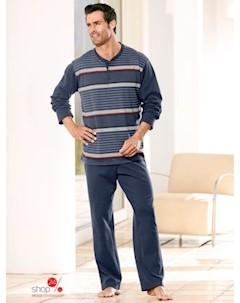 Пижама Gregory цвет серо синий полоска klingel