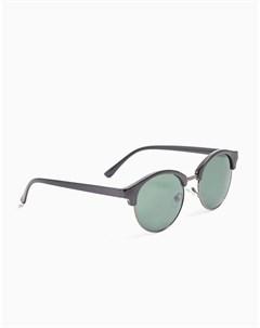 Черные солнцезащитные очки клабмастер в круглой оправе Topman