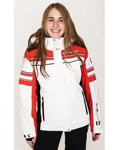 Куртка горнолыжная M Rus L Snow 12 Jkt Lady Wh S Red Blk St 38 Vuarnet