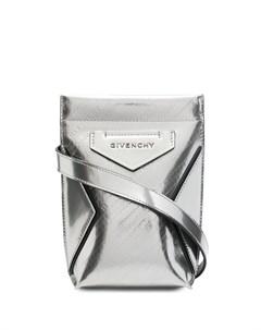 Сумка через плечо Antigona с тисненым логотипом Givenchy