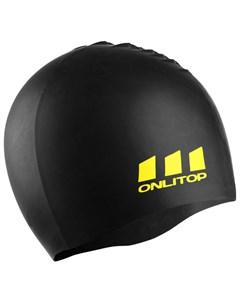 Шапочка для плавания силикон цвет чёрный Onlitop