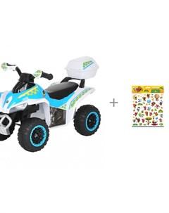 Каталка Квадроцикл с багажником и пленочные большие наклейки PrioritY МиМиМишки Pituso