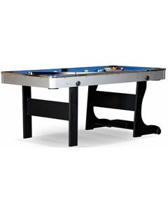 Бильярдный стол для пула Team I 6 ф ЛДСП 55 909 06 1 черный cкладной Nobrand