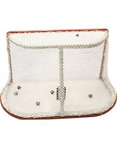 Сетка хоккей Д 2 6мм ячейки 4x4 цвет белый для ворот 1 25x1 85x1 3м Zso