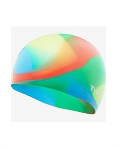 Шапочка для плавания Tie Dye Junior Swim Cap силикон LCSJRTD 465 синий Tyr