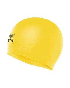 Шапочка для плавания Latex Swim Cap латекс LCL 730 желтый Tyr