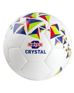 Мяч футбольный Crystal р 3 бело сине красный Novus