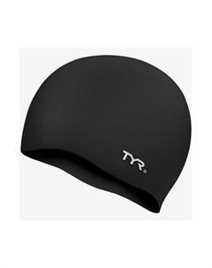 Шапочка для плавания Wrinkle Free Silicone Cap силикон LCS 001 черный Tyr