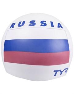 Шапочка для плавания Russia Silicone Swim Cap силикон LCSRUS 100 белый Tyr